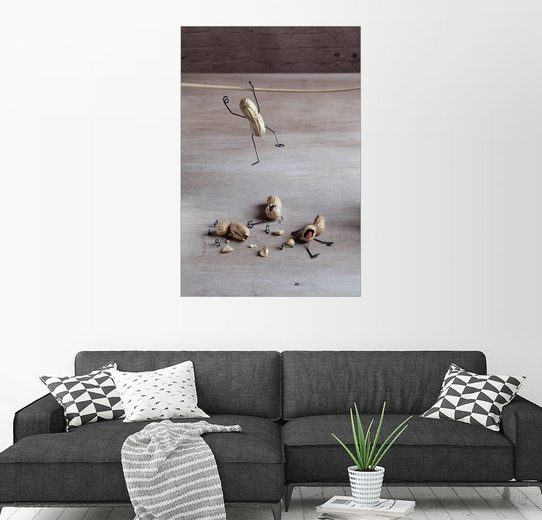 Posterlounge Wandbild - Nailia Schwarz »Simple Things- Seiltanz«