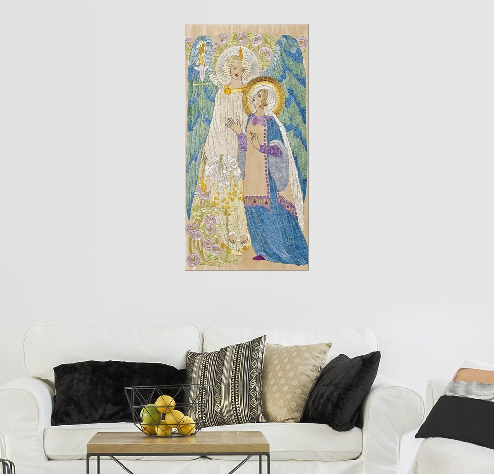 Posterlounge Wandbild - Scottish School »The Annunciation, Glasgow school embroidery, ...« | Dekoration > Bilder und Rahmen > Bilder | Posterlounge