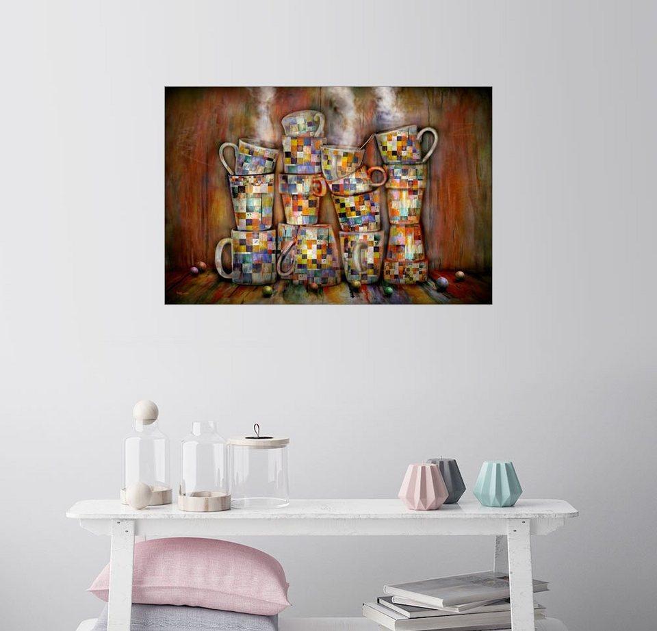 Posterlounge Wandbild - teddynash »Buntes Kaffee trinken in der Küche«  online kaufen | OTTO