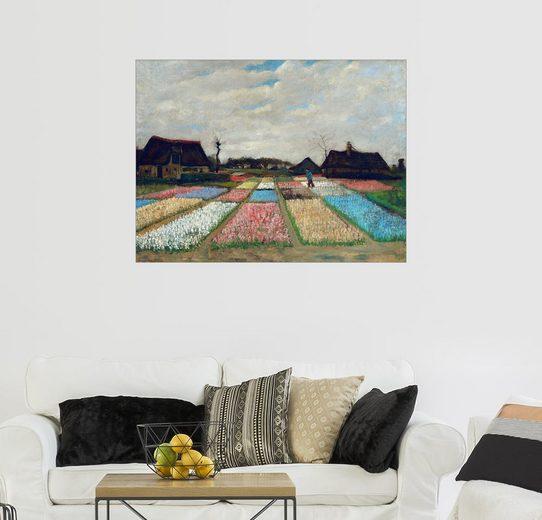 Posterlounge Wandbild - Vincent van Gogh »Blumenfelder«