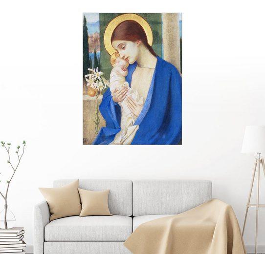 Posterlounge Wandbild - Marianne Stokes »Madonna und Kind«