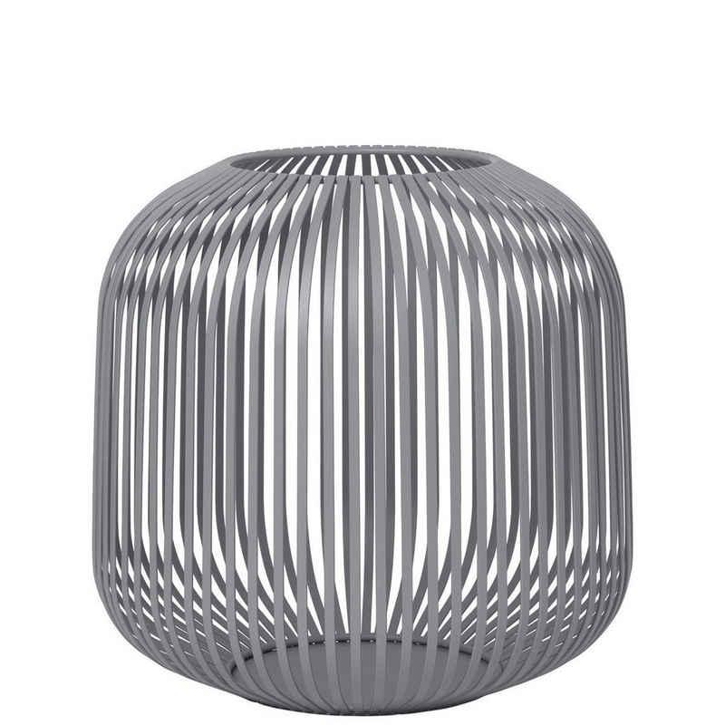 BLOMUS Laterne »LITO Steel Gray (Grau) Medium H 27 cm; Modernes Indoor Windlicht«