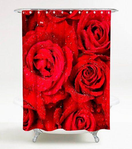 Sanilo Duschvorhang »Rosen« Breite 180 cm, 180 x 200 cm
