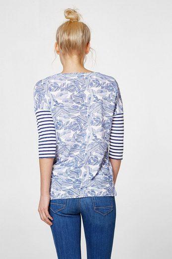 ESPRIT Lässiges Shirt im Muster-Mix