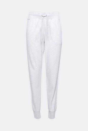 ESPRIT Melierte Jersey-Pants aus Baumwoll-Mix
