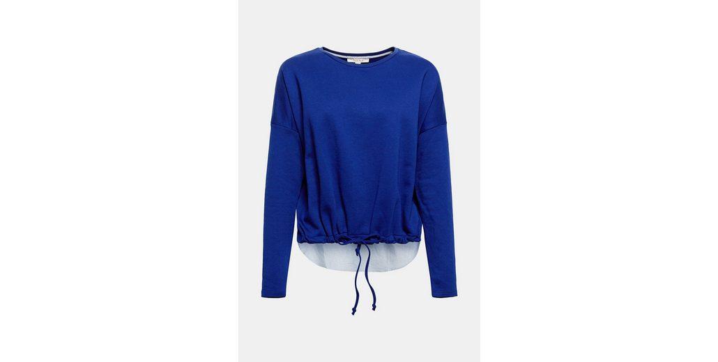 ESPRIT Sweatshirt mit rückseitigem Stoffsaum Steckdose Online Sauber Und Klassisch Versandrabatt Authentisch Sehr Billig Zu Verkaufen Y43EeQZf