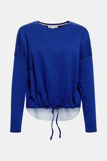 Sweat-shirt Esprit Avec Ourlet En Tissu À Larrière