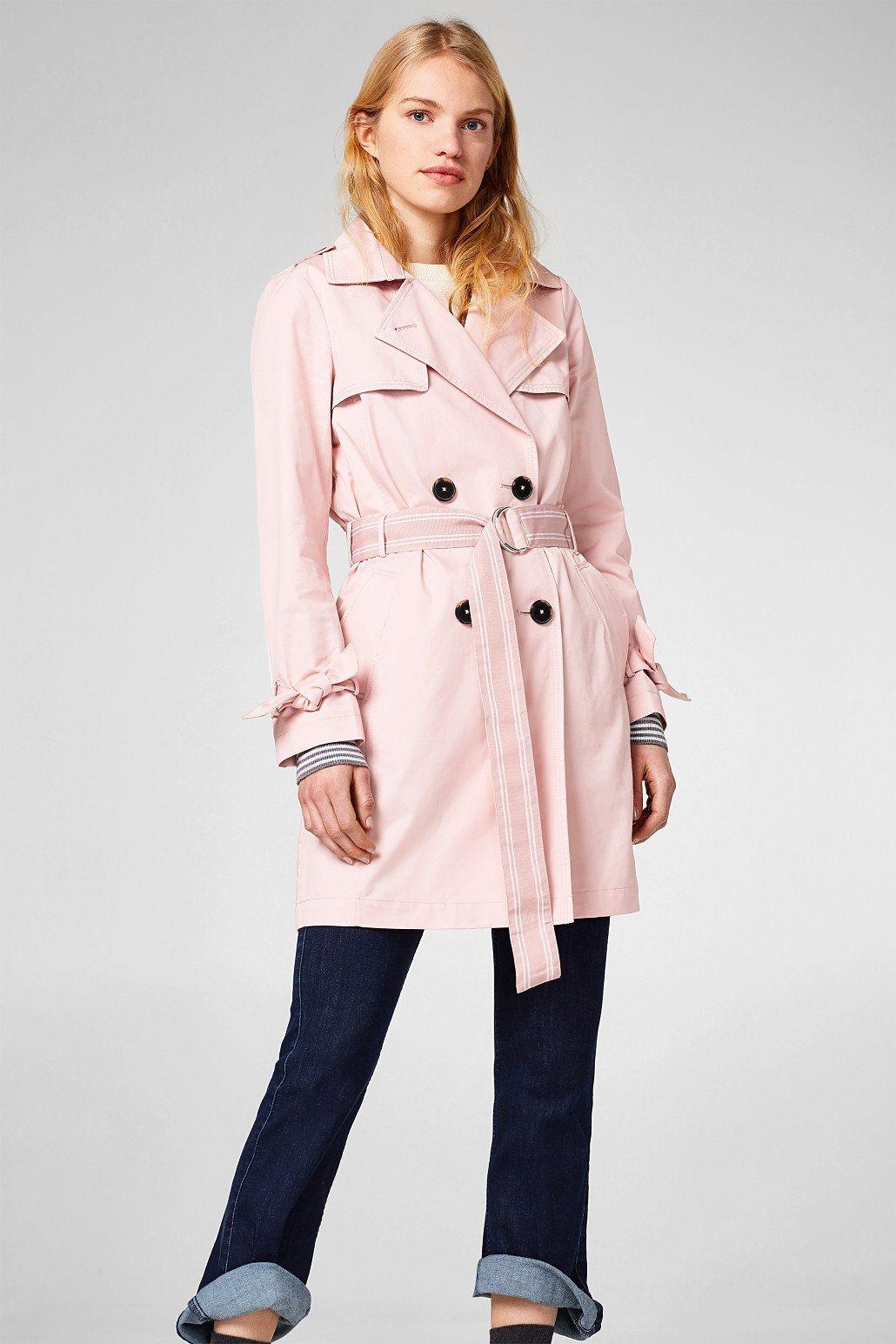 EDC BY ESPRIT Zeitloser Trenchcoat aus Baumwolle | Bekleidung > Mäntel > Trenchcoats | Baumwolle - Polyester | edc by Esprit