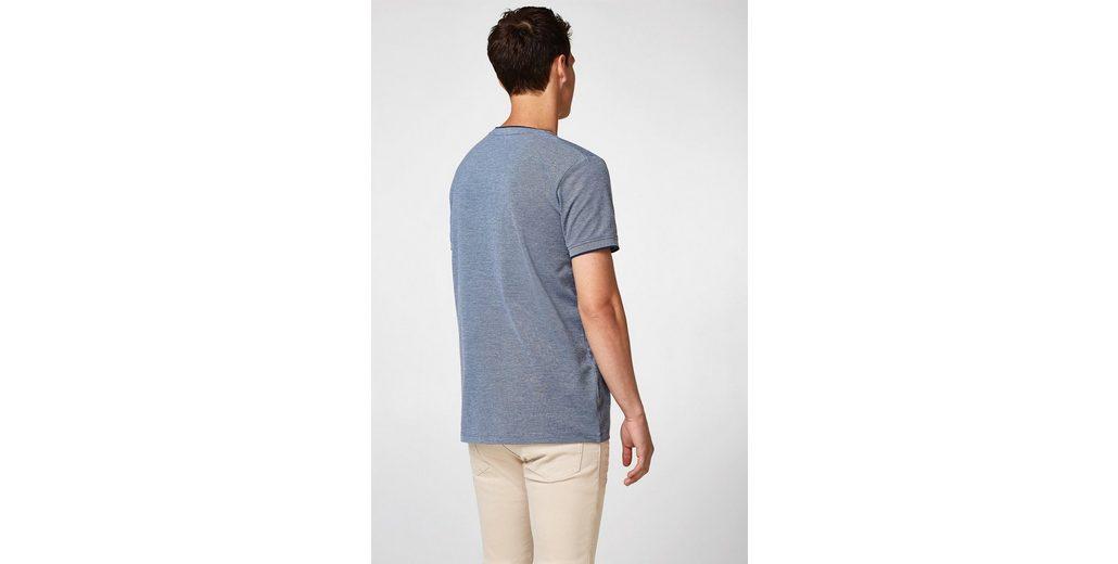 Spielraum Brandneue Unisex ESPRIT T-Shirt aus zweifarbigem Piqué Verkauf 2018 Neue Outlet Online-Shop Spielraum Erschwinglich Billig Verkaufen Mode-Stil iASicT4XA