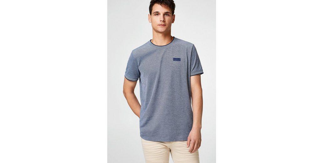 ESPRIT T-Shirt aus zweifarbigem Piqué Spielraum Erschwinglich Großhandelspreis Verkauf Online Outlet Online-Shop Preiswerter Preis Fabrikverkauf UcbfvttiU