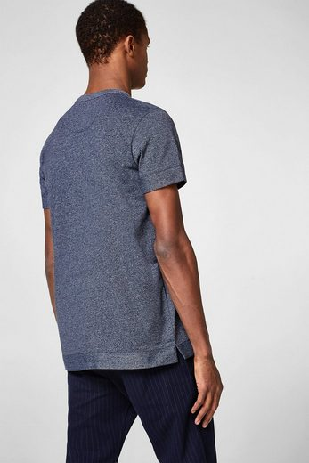 ESPRIT Meliertes Jersey-Shirt aus Baumwoll-Mix
