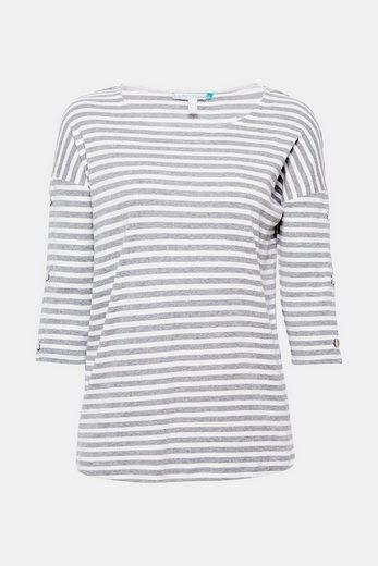 Esprit Shirt With Press Studs And Organic Cotton