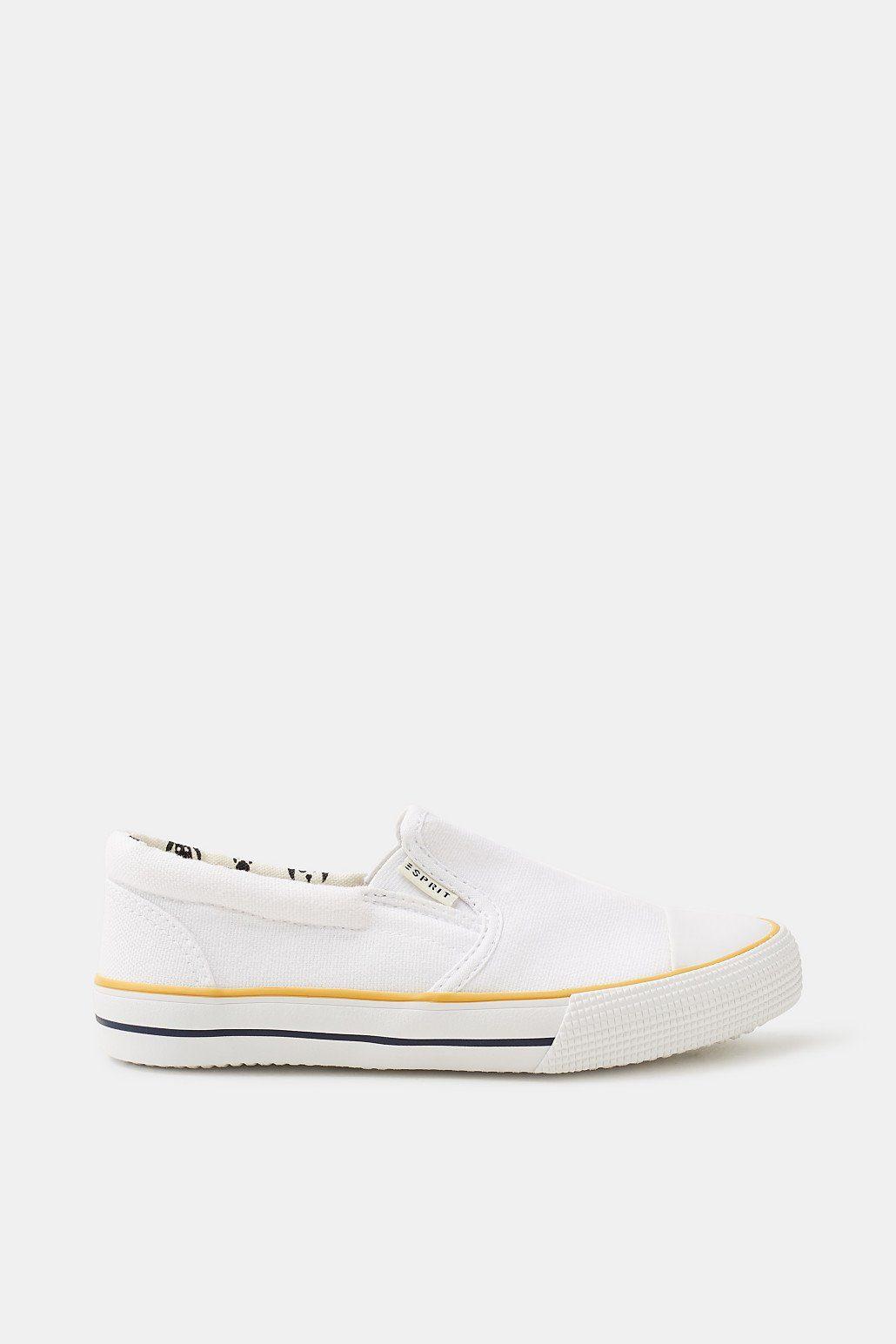 Esprit Slip On-Sneaker aus Baumwoll-Canvas für Jungen, Größe 36, White