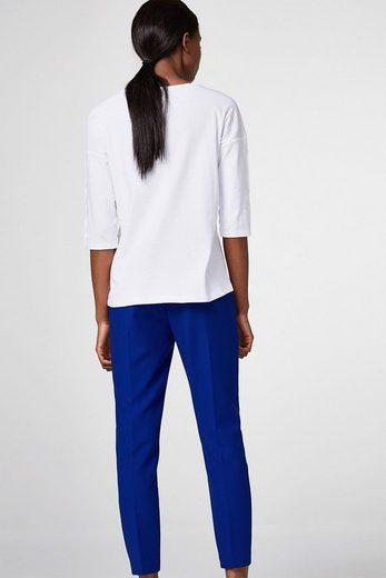 ESPRIT Shirt mit Druckknöpfen, Organic Cotton