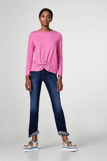 Edc By Esprit Oversized Shirt With Knot-detail