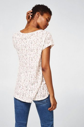 Esprit Jersey T-shirt With All-over Floral-print