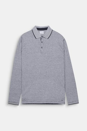 Esprit Collection Polo Longsleeve In Cotton Jersey