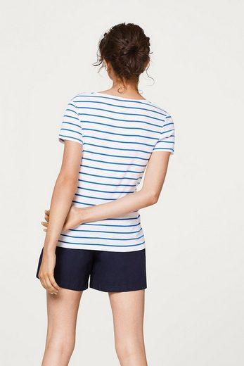 ESPRIT Shirt mit Schulterknöpfen, Organic Cotton