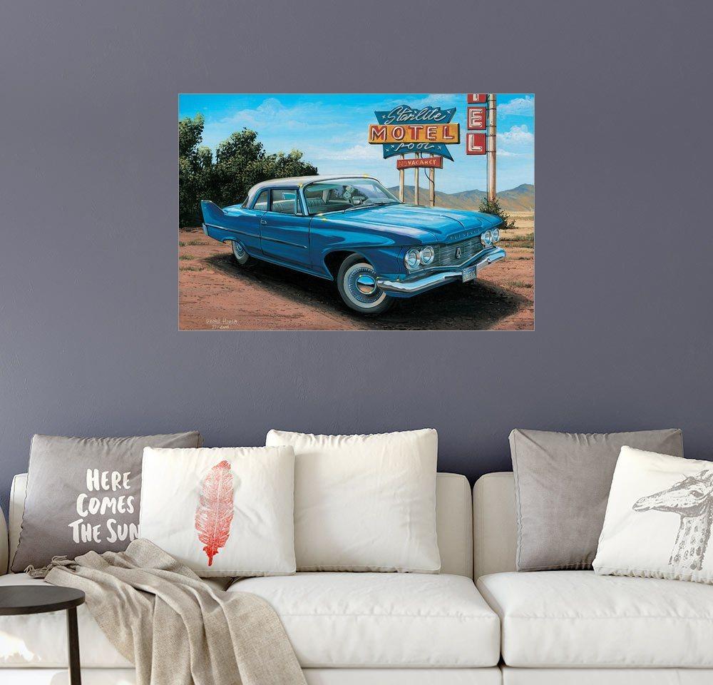 Posterlounge Wandbild - Georg Huber »Starlight Motel« | Dekoration > Bilder und Rahmen > Bilder | Bunt | Posterlounge