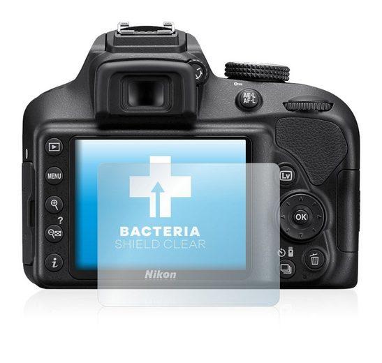 upscreen Schutzfolie »für Nikon D3400«, Folie Schutzfolie klar antibakteriell