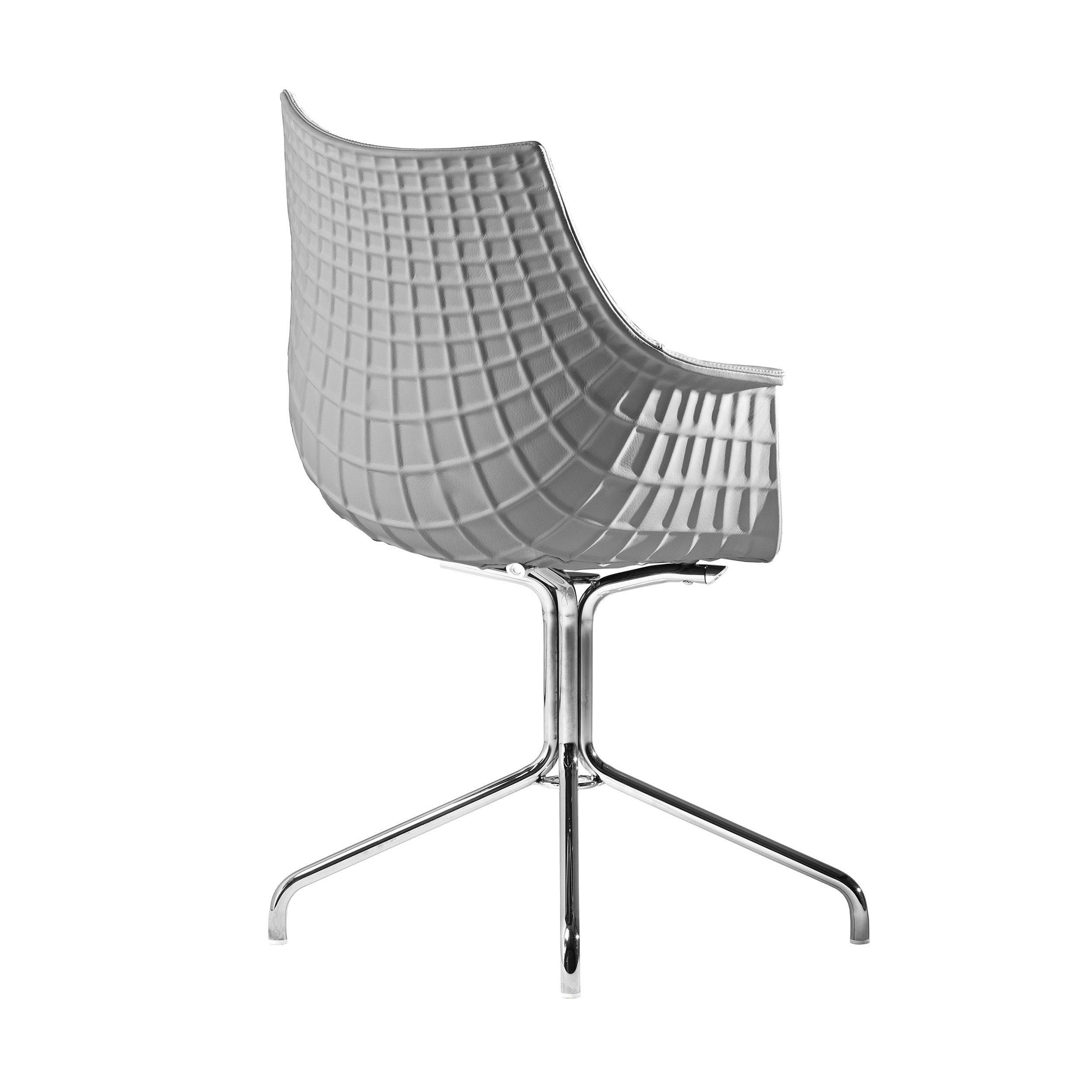 Driade Stuhl »Meridiana Leder mit Standfuß«