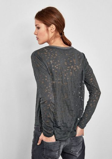 Q/S designed by Ausbrenner-Shirt mit Glitzerdetails