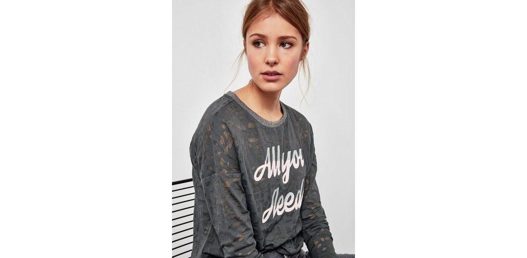 Q/S designed by Ausbrenner-Shirt mit Glitzerdetails Holen Sie Sich Die Neueste Mode Outlet Billige Qualität Große Überraschung Verkauf Online Bester Platz 5hvDj9E