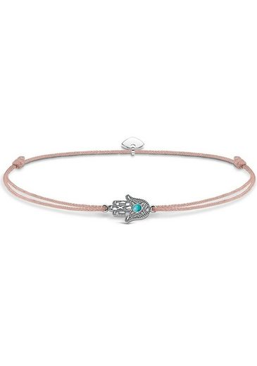 THOMAS SABO Fußkette »Little Secret Fatimas Hand, LSAK001-504-19-L27v« mit imit. Türkis
