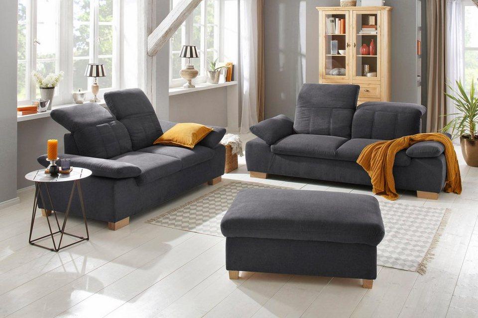 home affaire 2 5 sitzer 2 sitzer bergamo garnitur mit armlehn und r ckenfunktion federkern. Black Bedroom Furniture Sets. Home Design Ideas