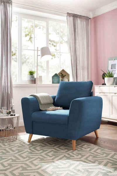 Home Affaire Sessel »Penelope« Mit Feiner Steppung Im Sitzbereich, Skandinavisches  Design