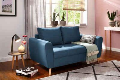 Home Affaire 2 Sitzer »Penelope« Mit Feiner Steppung Im Skandinavischem  Design