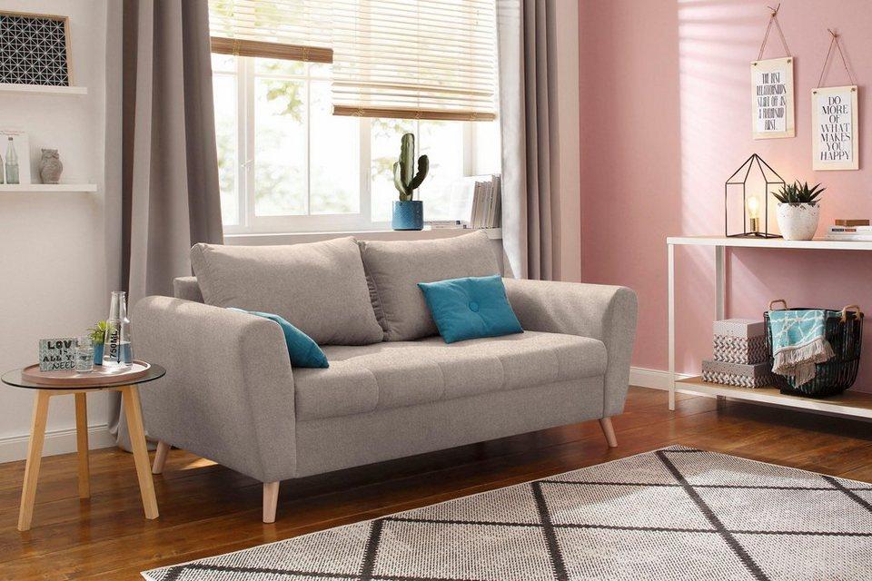 Home Affaire 25 Sitzer Penelope Mit Feiner Steppung Im Sitzbereich Skandinavisches Design Online Kaufen Otto