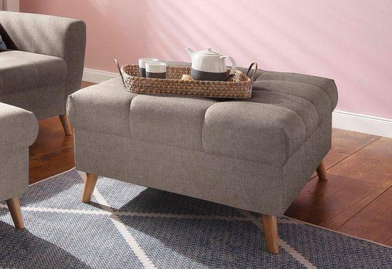 Home affaire Hocker »Penelope«, mit feiner Steppung im Sitzbereich, skandinavisches Design