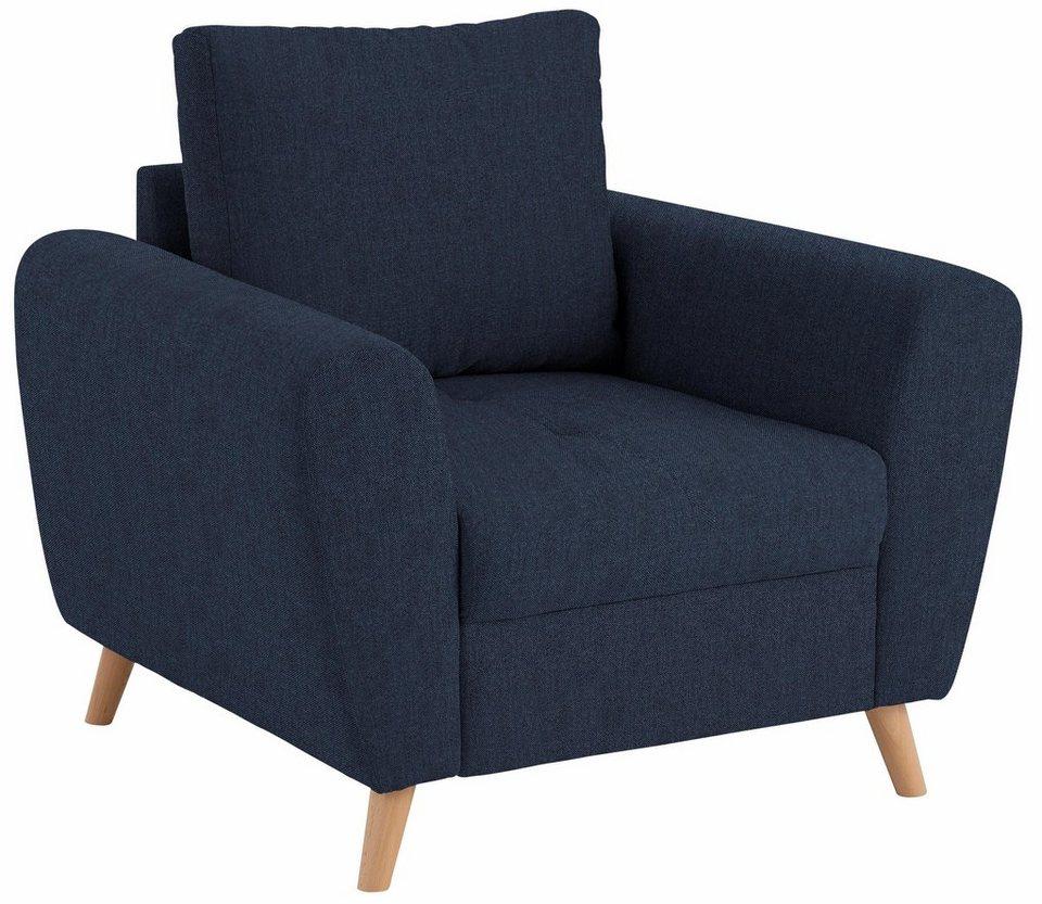 Home affaire Sessel »Jordsand« mit feiner Steppung im Sitzbereich ...