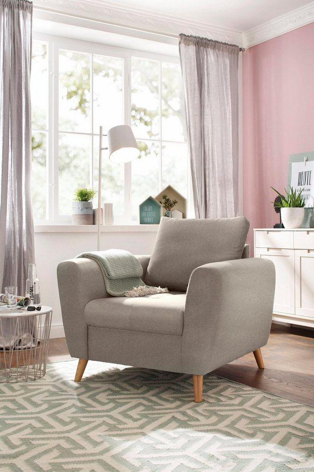 home affaire sessel penelope mit feiner steppung im. Black Bedroom Furniture Sets. Home Design Ideas