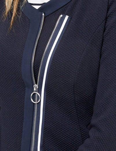 Taifun Blazer Langarm gefüttert Blazer mit asymmetrischem Zipper