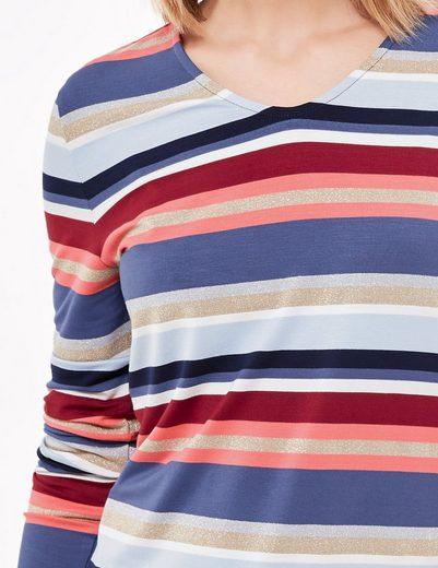 Gerry Weber T-Shirt 1/1 Arm Longsleeve mit V-Ausschnitt