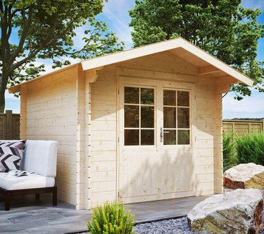 luoman gartenhaus lillevilla 21 bxt 280x299 cm inkl aufbau und fu boden online kaufen otto. Black Bedroom Furniture Sets. Home Design Ideas