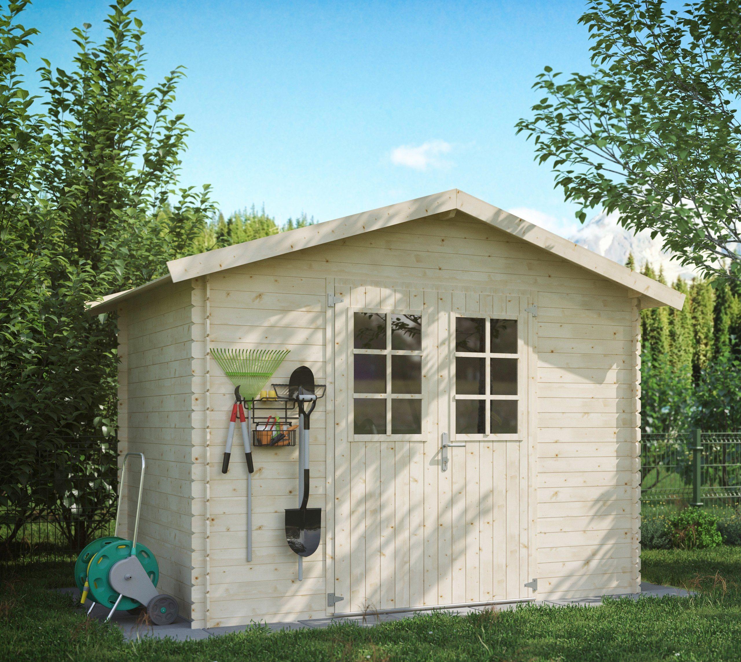 LUOMAN Gartenhaus »Lillevilla 141«, BxT: 260x180 cm, 19 mm, inkl. Aufbau | Garten > Gartenhäuser | Luoman
