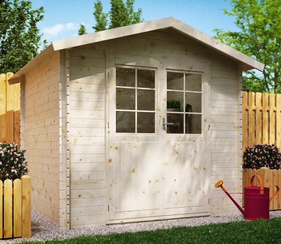 Kiehn-Holz Gartenhaus »Lillevilla 9«, BxT: 270x243 cm, inkl. Aufbau und Fußboden