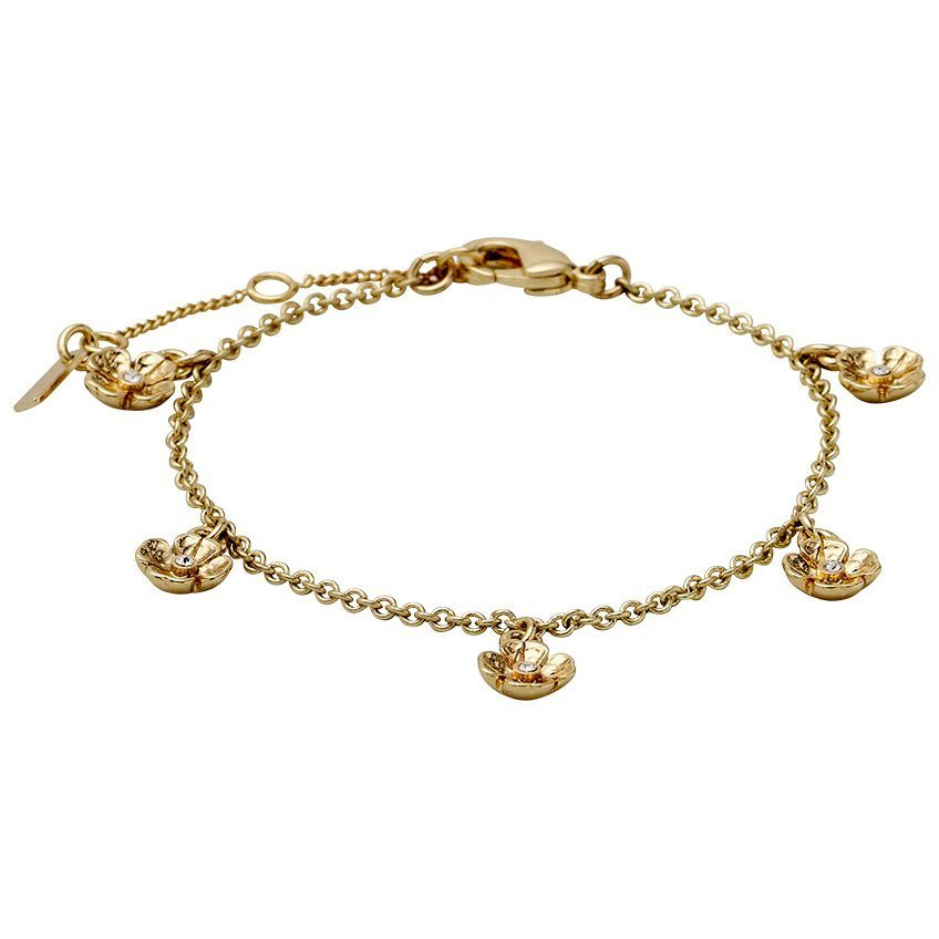 Pilgrim Armband »Isabel_PI«, Fünf Blumen-Ohrknöpfe