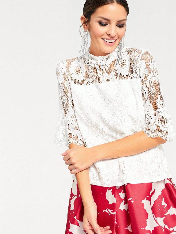 heine TIMELESS Spitzenshirt | Bekleidung > Shirts > Spitzenshirts | Weiß | Viskose | heine