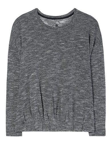 Herrlicher Sweatshirt in melierter Optik