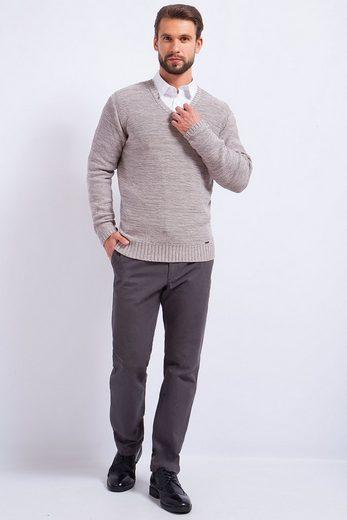 Finn Flare Pullover mit V-Ausschnitt