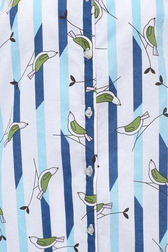Finn Flare Bluse mit niedlichem Vogelmuster
