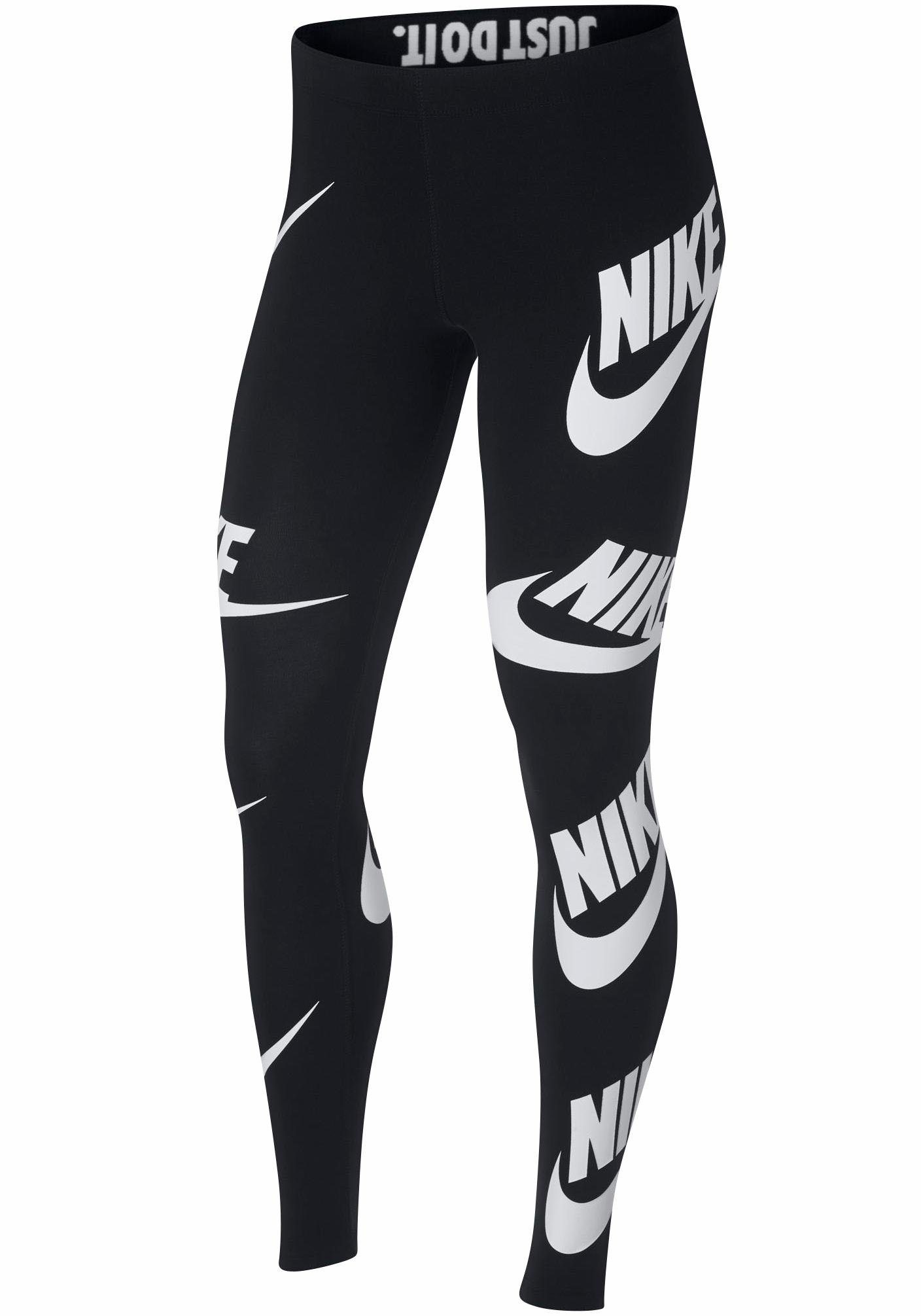 Damen Nike Sportswear Leggings LEGGINGS SSNL LEG A SEE grau, schwarz | 00884499025399