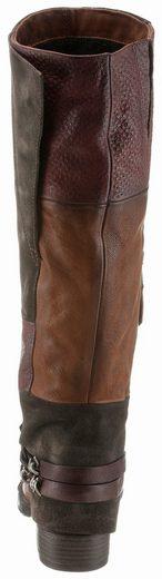 Mjus Cowboystiefel, im trendigen Used-Look