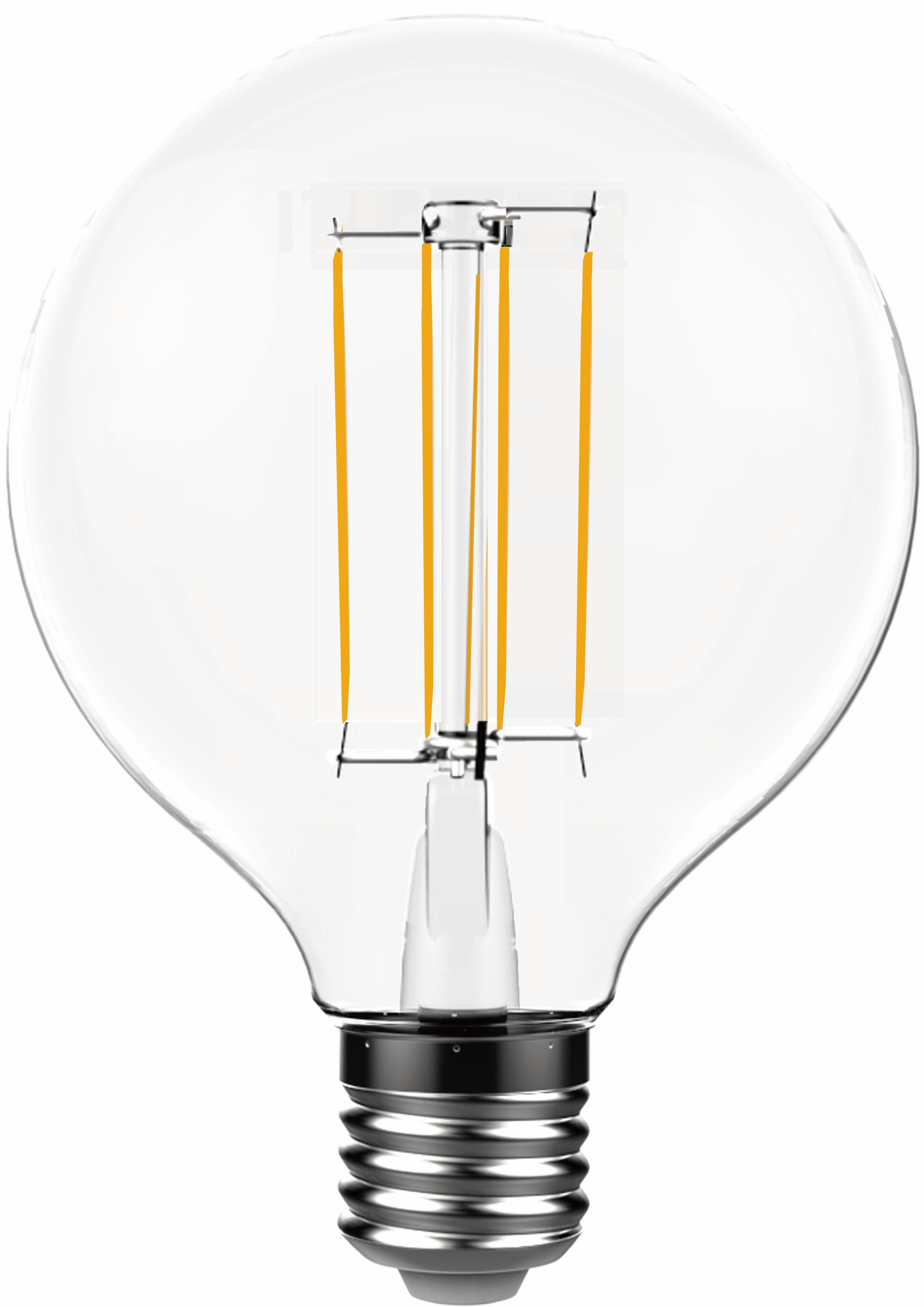 Toshiba »Kugel Globe« LED-Leuchtmittel, E27, 2 Stück, Warmweiß
