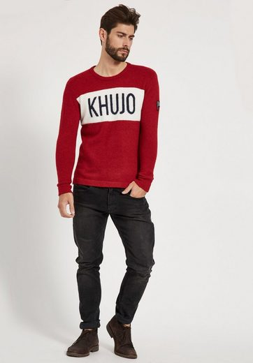 khujo Strickpullover PINO, im Colorblocking-Design