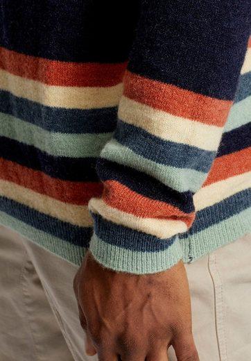 khujo Strickpullover PASCAL, mit Logostickerei auf der Brust